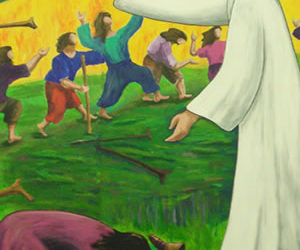 Domingo 28 – C   Jesús cura diez leprosos